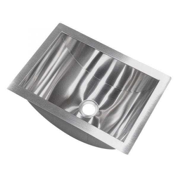 Better Bath 426017 Stainless Steel Undermount Rectangular Lavatory Sink 14 L X 10 W Camperid Com