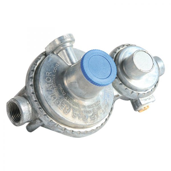 Camco 59323 160 000 Btu Fixed Two Stage Horizontal Lp Gas Regulator 1 4 Inlet X 3 8 Fnpt Outlet Camperid Com
