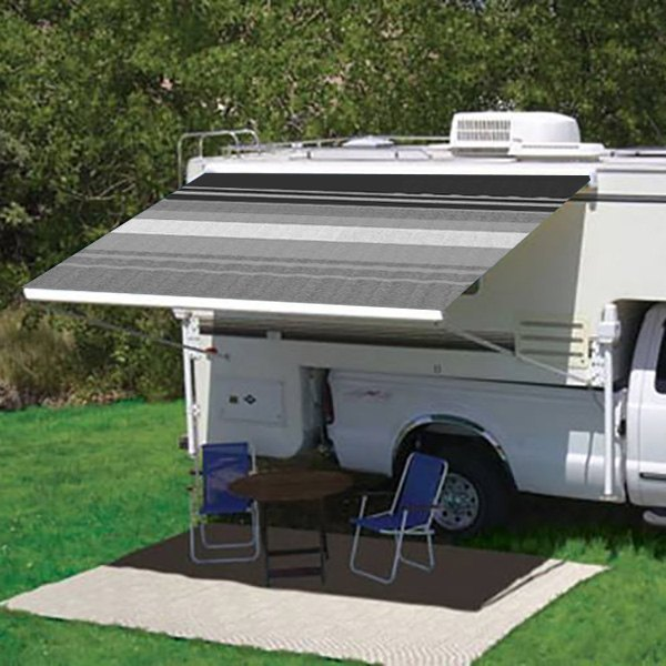 Carefree® - Campout™ Manual 6 5'Ext  Striped Patio Awning