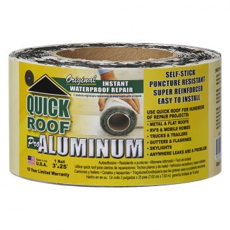 4 x 25/' Cofair B-UBE425 Quick Roof Extreme with Steel-Loc Adhesive 4 x 25 Black for RVs Black for RVs