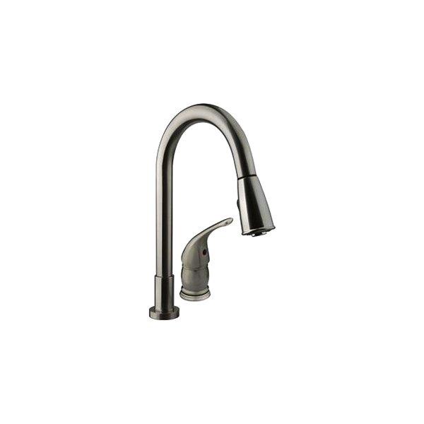 Dura® DF-NMK503-SN - Brass Satin Nickel Kitchen Pull-Down Faucet