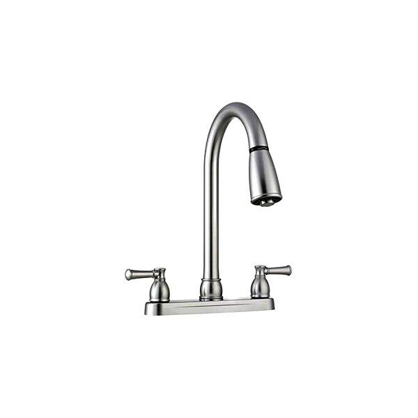 Dura® DF-PK350L-SN - Dual Lever Plastic Satin Nickel Kitchen Pull-Down  Faucet