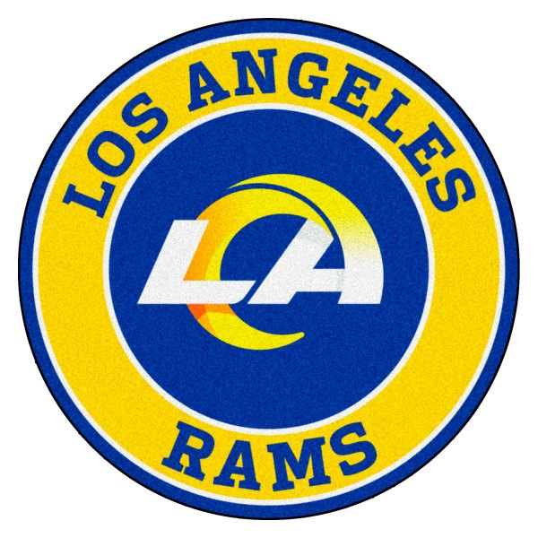 Fanmats 17976 Nfl Los Angeles Rams Round Nylon Area Rug With Ram Logo Camperid Com