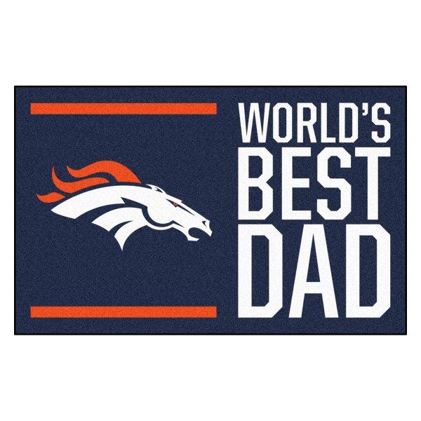 Fanmats 18166 Best Dad Nfl Denver Broncos 1 7 X 2 6 Rectangular Nylon Starter Mat With Bronco Logo Camperid Com