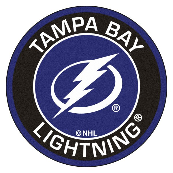 Fanmats 18887 Nhl Tampa Bay Lightning Round Nylon Area Rug With Circle Lighting Bolt Logo Camperid Com