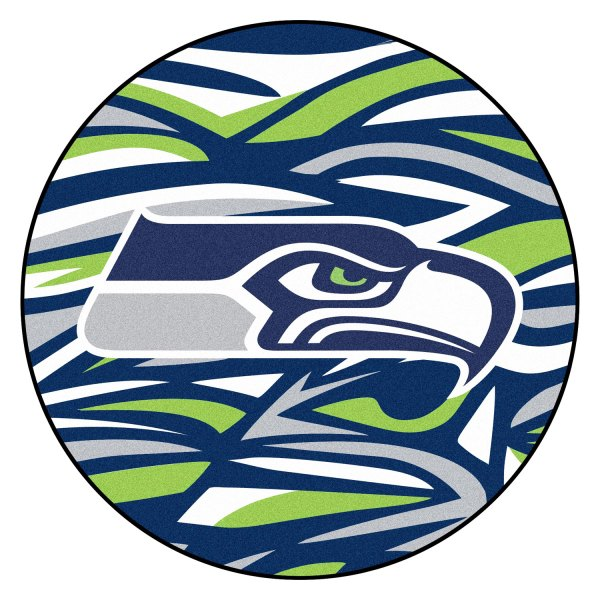 Fanmats 23366 X Fit Nfl Seattle Seahawks Round Nylon Area Rug With Seahawk Logo Camperid Com