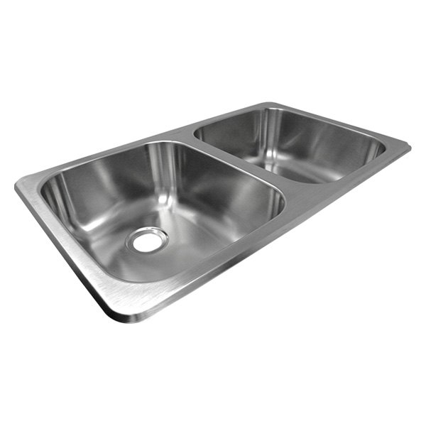 Superb Lasalle Bristol 13Tlsb27167 Utopia Stainless Steel Drop In Rectangular Double Bowl Kitchen Sink 27L X 16W Complete Home Design Collection Lindsey Bellcom