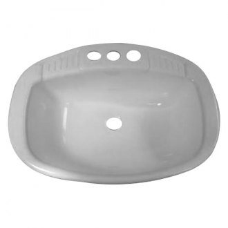 LASALLE BRIS 16186PWA White Lavatory Sink