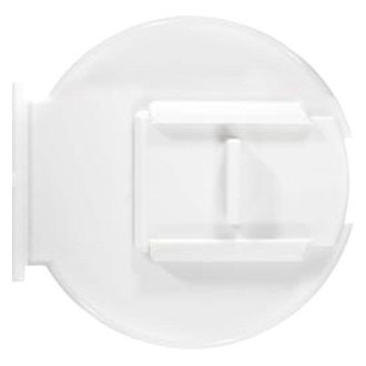 RV Designer B132 4.6 inch Diameter Round Electrical Cable Hatch Low Profile Colonial White
