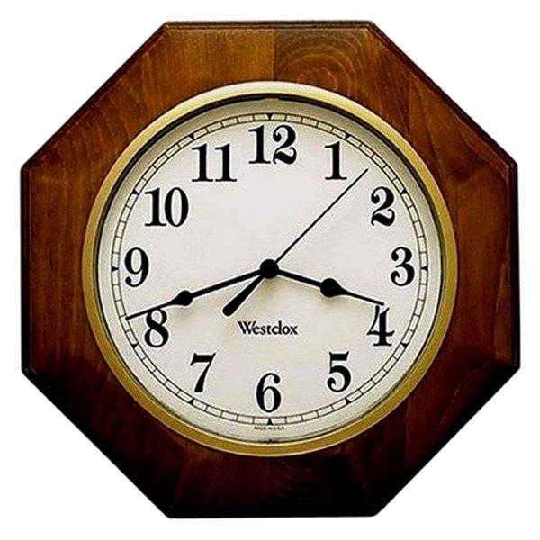 Westclox 174 46082a 10 Quot Wood Octagon Wall Clock Camperid Com